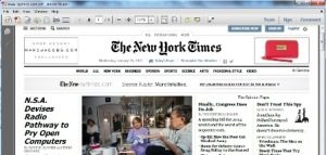 PDF Version of the front page of NY Times newspaper